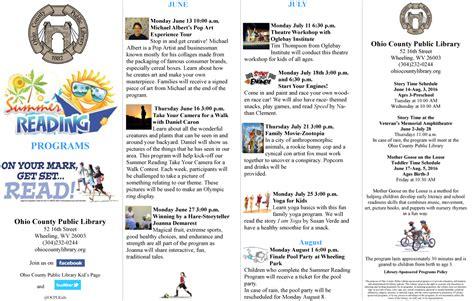 calendar programs summer reading program calendar free programs utilities
