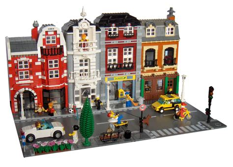 building houses it s kind of like lego but more anoying moc brown and grey modular buildings lego town