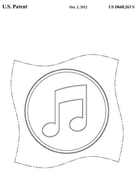icon design patent apple patents an encircled musical note patently o