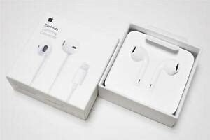 genuine apple iphone    xs xr headset earpods  lightning cable connector  ebay