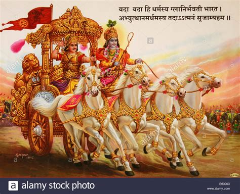 Mahabharat Live Wallpaper by Painting Depicting The In Bhagavad Gita Where Lord