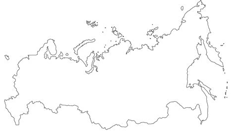 coloring page map of russia russia blank map