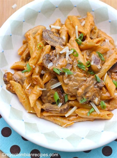 Simple Pasta Salad Recipe by Penne Pasta With Portobello Mushroom Sauce My Colombian Recipes