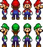 famous characters in pixel art mario and luigi mario and luigi sprites mltsc by neoz7 on deviantart