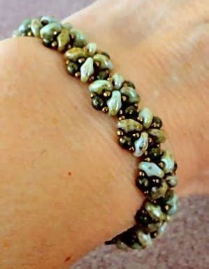 Linda's Crafty Inspirations: Bracelet of the Day: Double Trestle Bands