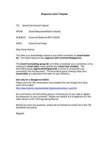 Response Letter To Offer Response Letter Sles Writing Professional Letters