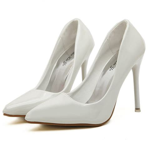 white stiletto high heels white patent high heel stiletto court shoes