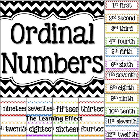 free printable ordinal number cards 42 best graphing and data analysis images on pinterest