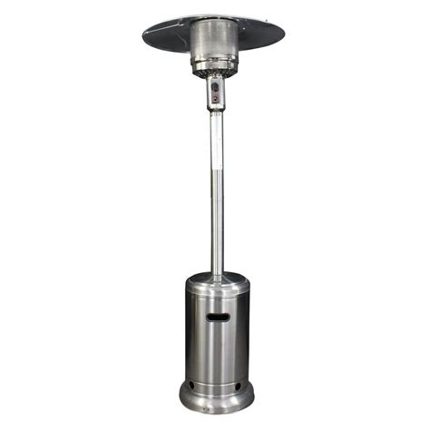Stainless Steel Gas Patio Heater Homcomfort 40 000 Btu Stainless Steel Style Gas Patio Heater Hcphss The Home Depot