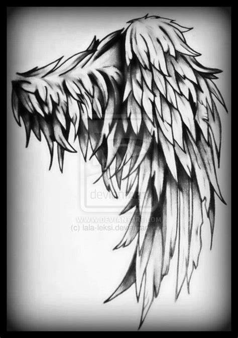tattered angel wings tattoo tattered wing tattoo by lala