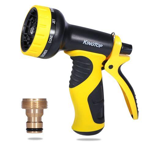 Best Seller Hose Nozzle With Adaptor Pistol Semprotan Adaptor 10 pattern adjustable spray gun hose nozzle garden water pipe watering ebay