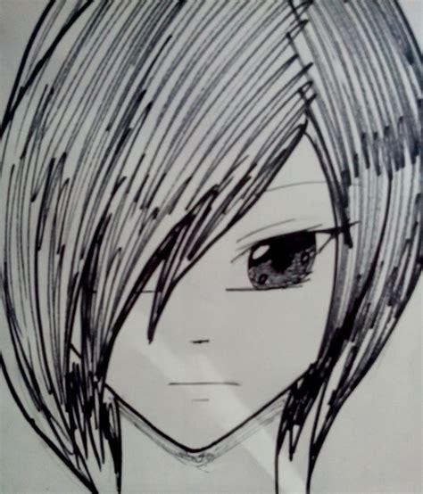 imagenes anime faciles de dibujar como dibujar un rostro anime de frente de una forma facil