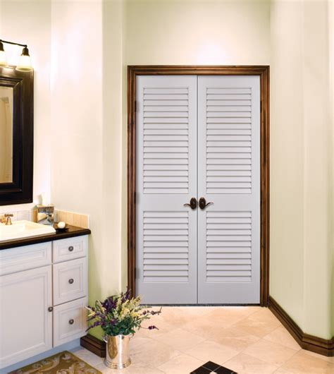 Plantation Louvered Authentic Wood Doors Interior Doors Slatted Interior Doors