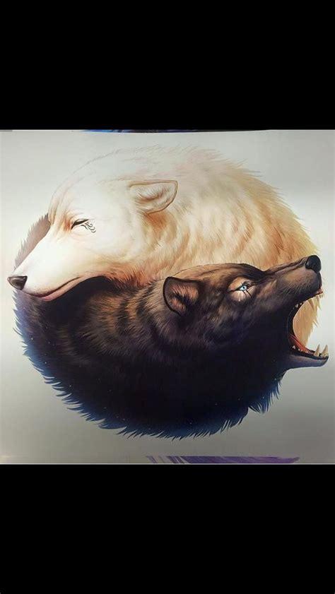 yin yang wolf tattoo wolf yin yang idea pinteres