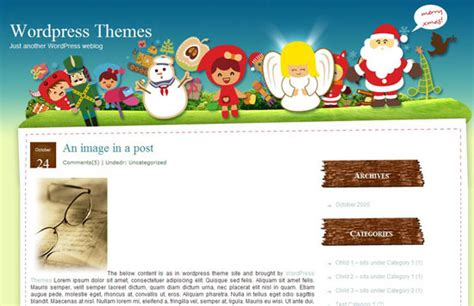 christmas themes wordpress the best free wordpress themes for christmas concept dezain