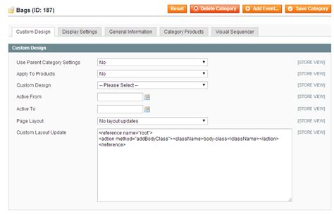layout update xml magento 1 9 change body class of home page magento