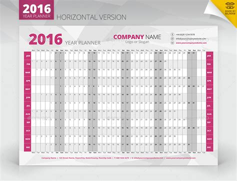 free printable wall planner 2016 a3 year wall planner graphicriver