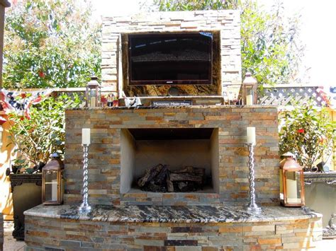 outdoor fireplace with tv search outdoor