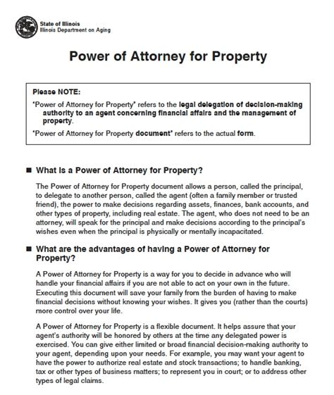 durable power of attorney template free illinois power of attorney forms and templates