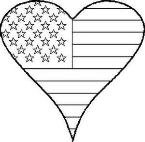 american flag heart coloring page flag day children s stories poems carolyn s compositions