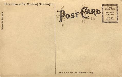 vintage postcard template 18 best images about vintage postcard backs on
