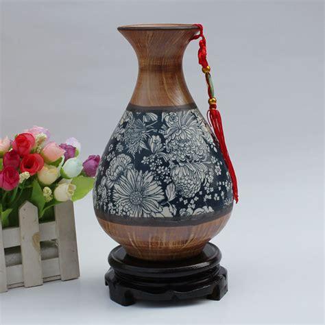 ceramic home decoration modern ceramic vase new house decoration home decoration crafts wooden vase invases from home
