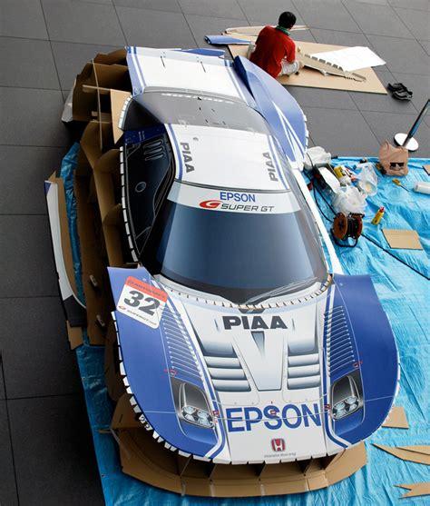 How To Make A Papercraft Car - a size papercraft honda nsx race car