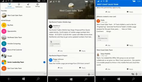 Office 365 Outlook Groups Outlook Groups App Is Now Available For Windows 10 Mobile