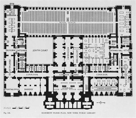 basement floor plan new york public library fig 146