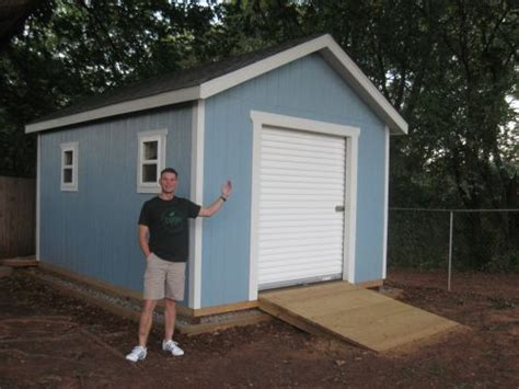 Overhead Shed Door This 12x16 Shed With Gable Style Roof Has A 6 Wide 7 Roll Up Shed Door And Can Be Built