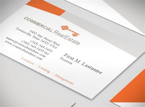 real estate business cards templates free document moved