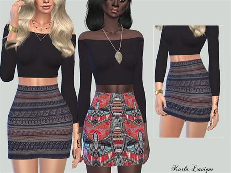 tsr sims 4 clothes sports karla lavigne s etnique skirt