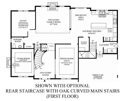 stairs floor plan weatherstone of avon the duke home design