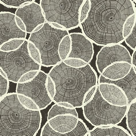 svg tree pattern tree rings seamless pattern royalty free vector clip art