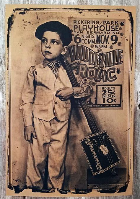 vaudeville poster template quot vaudeville frolic quot cigar box guitar poster 12 x 18