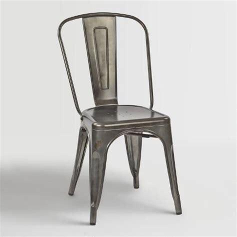 world market metal chairs galvanized metal ira dining chairs set of 2 world market
