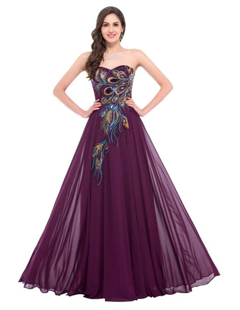 purple evening formal dresses overstock shopping grace karin peacock dresses black blue purple chiffon