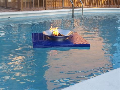 pool fire pit floating fire pits