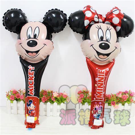 Coklat Stick Mickey Mouse Souvenir new 20pcs lot 39 66cm mickey minnie mouse bowknot cheering stick balloon birthday foil