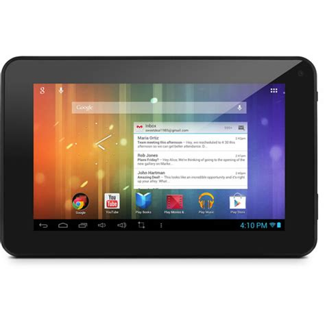 walmart tablets android ematic em63 with wifi 7 quot touchscreen tablet pc featuring android 4 1 jelly bean operating
