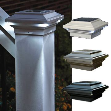 solar lights for deck posts aries solar powered deck light for 4x4 wood posts