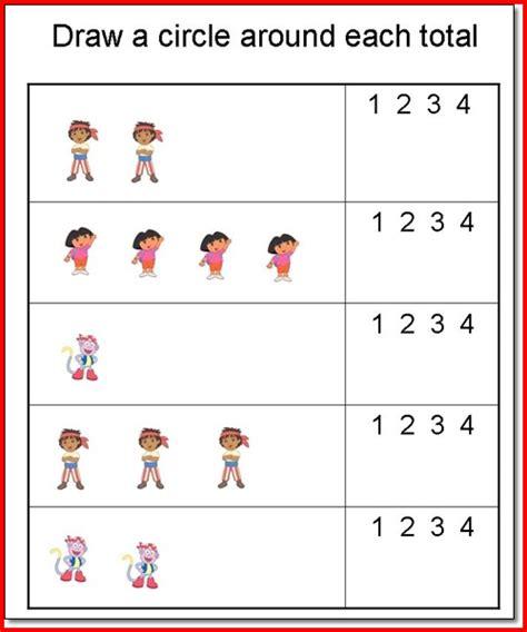 printable preschool worksheets age 2 math worksheets for preschool age 3 5 math best free