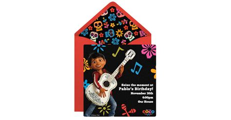 coco party invitation disney family