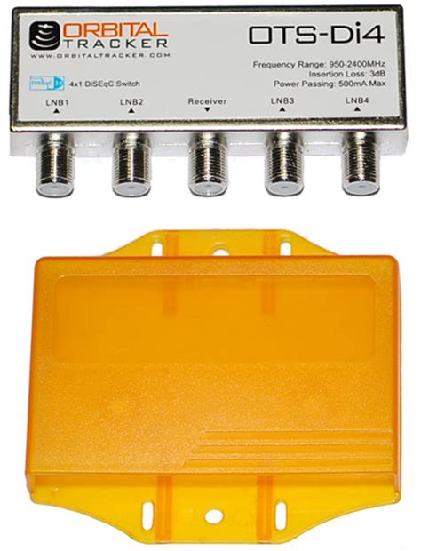 Disceq 4x1 this is a diseqc 2 0 4 way diseqc switch with weather cover that allows for simultaneous