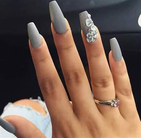 imagenes de uñas de acrilico mate u 241 as grises mate u 241 as pinterest