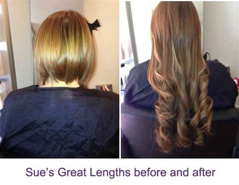 great lengths hair extensions before during after cold great lengths hair extensions before after