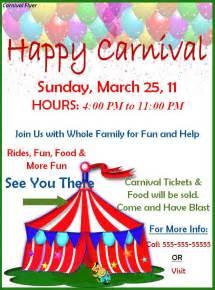 carnival flyer template carnival flyer template best word templates