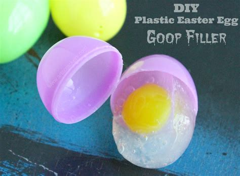 easter egg filler diy plastic easter egg goop filler
