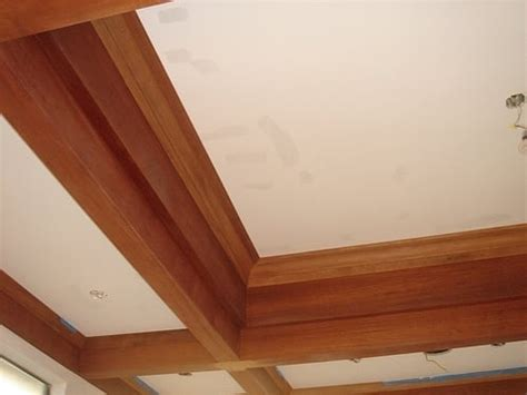Wood Trim Around Ceiling by Amazing Wood Finish Trim On The Ceiling While Building Is