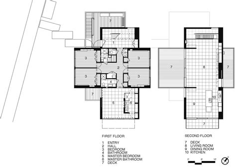 New York Apartments Floor Plans by First Amp Second Floor Plan Beach Walk House Fire Island